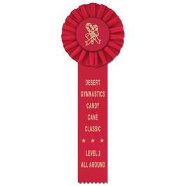 Ideal 1 Gymnastics, Cheer  & Dance Rosette Award Ribbon