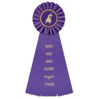 Ideal Gymnastics, Cheer  & Dance Rosette Award Ribbon