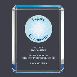 Blue Shimmer Acrylic Gymnastics, Cheer & Dance Award Trophy