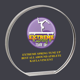 Round Acrylic Gymnastics, Cheer & Dance Award Trophy