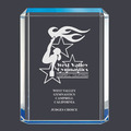 Blue Shimmer Acrylic Gymnastics, Cheer & Dance Award Trophy