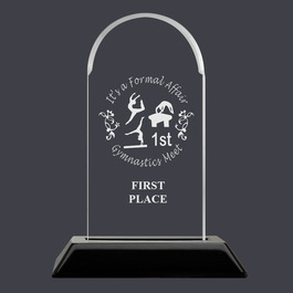 Engraved Arch Acrylic Gymnastics Award