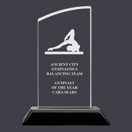 Engraved Swatch Acrylic Gymnastics Award