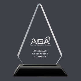 Engraved Arrowhead Acrylic Gymnastics Award