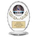 "6-3/8"" Free Standing Oval Gymnastics, Cheer & Dance Trophy"
