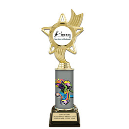 "10"" Design Your Own Gymnastics Award Trophy w/ Black HS Base"
