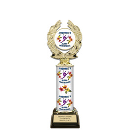 "11"" Design Your Own Gymnastics, Cheer & Dance Trophy w/ Black HS Base"