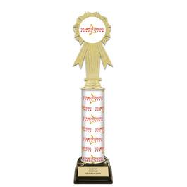 "12"" Design Your Own Gymnastics, Cheer & Dance Award Trophy w/ Black HS Base"