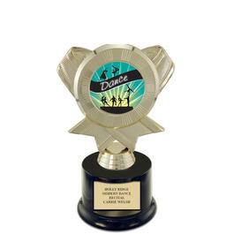 """7"""" Gymnastics, Cheer & Dance Award Trophy w Round Base & Insert Top"""