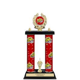 "15"" Design Your Own Gymnastics, Cheer & Dance Award Trophy w/ Custom Column, Trim & Insert Top"