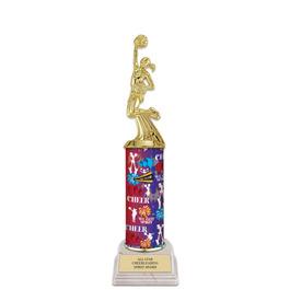 "11"" White HS Base Gymnastics Trophy"