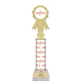 "12"" Design Your Own Gymnastics, Cheer & Dance Award Trophy w/ White HS Base"