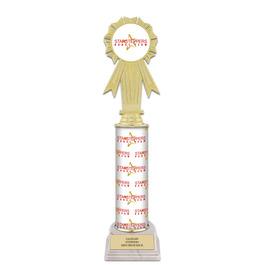 "12"" Design Your Own Gymnastics, Cheer & Dance Award Trophy w/ White HS Base"