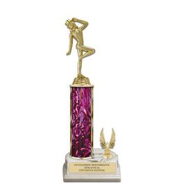 """12"""" White HS Base Trophy w/ Trim"""