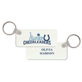 Rectangle Gymnastics, Cheer & Dance Keychain  w/ Print on Back