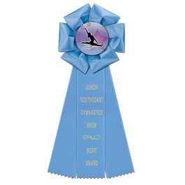 Beauty Gymnastics, Cheer & Dance Rosette Award Ribbon