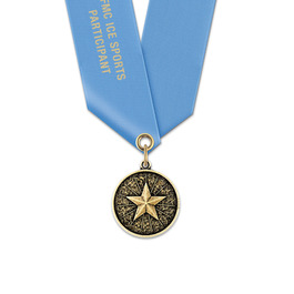 CX Hockey Award Medal w/ Any Satin Neck Ribbon