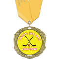 XBX Hockey Medal w/ Satin Neck Ribbon