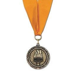 MX Hockey Award Medal w/ Any Grosgrain Neck Ribbon