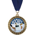 GFL Hockey Award Medal w/ Grosgrain Neck Ribbon