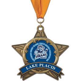 AS14 All Star Hockey Award Medal w/ Any Grosgrain Neck Ribbon