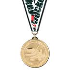BL Hockey Medal w/ Grosgrain Neck Ribbon