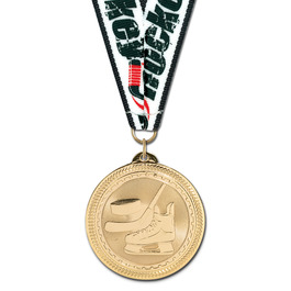 BL Hockey Medal w/ Grosgrain Neck Ribbon
