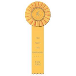 Ideal 1 Hockey Rosette Award Ribbon