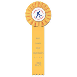 Ideal 1 Hockey Rosette Award Ribbon