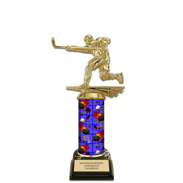 "10"" Black HS Base Hockey Award Trophy"