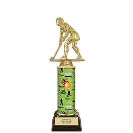 "11"" Black HS Base Hockey Award Trophy"