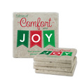 Comfort and Joy Tumbled Stone Coasters