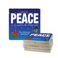Peace Tumbled Stone Coasters