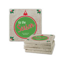 Tis the Season Tumbled Stone Coasters