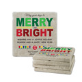 Merry and Bright Tumbled Stone Coasters