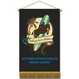 Cloth Mini Horse Show Banners w/ Fringe