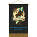 Cloth Mini Horse Show Banners w/ Fringe