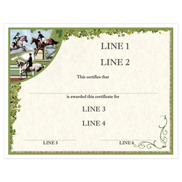 Custom Full Color Horse Show Award Certificate - Combined Training Design