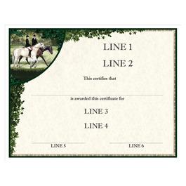 Custom Full Color Horse Show Award Certificate - Enjoy the Ride Design
