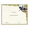 In-Stock Full Color Horse Show Award Certificate - Extended Trot Design