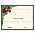 In-Stock Full Color Horse Show Award Certificate - Horse & Child Design