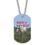Full Color Barn To Be Wild Dog Tag