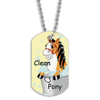 Full Color Clean Pony Dog Tag