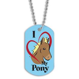 Full Color I Love My Pony Dog Tag