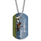 Full Color Rather Be Riding Dog Tag