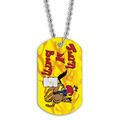 Full Color Turn and Burn Dog Tag