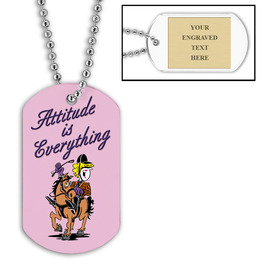 Personalized Attitude Is Everything Dog Tag w/ Engraved Plate