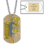 Personalized Dusty Bottoms Dog Tag w/ Engraved Plate