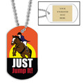 Personalized Just Jump It Dog Tag w/ Engraved Plate