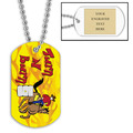 Personalized Turn and Burn Dog Tag w/ Engraved Plate